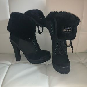 Philip Simon Shearling High Heel Boot!